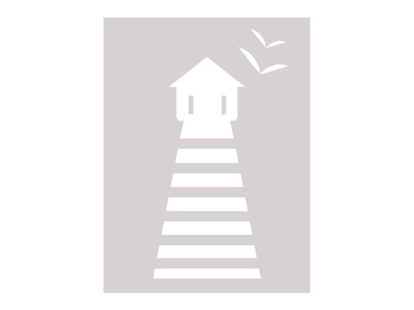 Fensterfolie Leuchtturm maritim