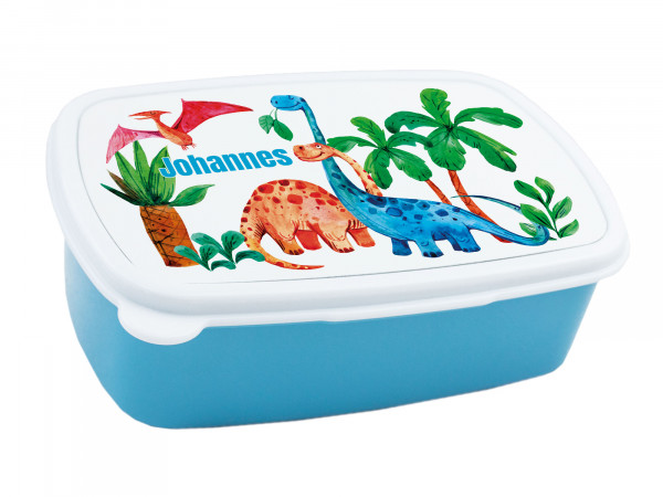 Brotdose für Kinder Junge mit Namen Dinosaurier