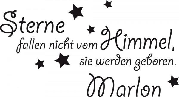 Wandtattoo Sterne fallen nicht vom Himmel... mit Wunschnamen
