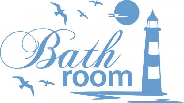 Wandtattoo für Bad Bathroom Leuchtturm