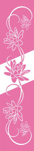 Wandtattoo Wandbanner Blumen Flower Schlafzimmer oder Bad