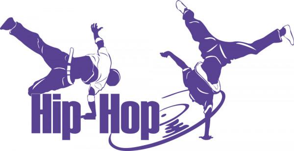 Wandtattoo Wandaufkleber Hip-Hop zwei Tänzer