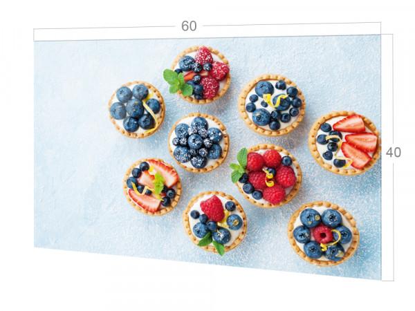 Spritzschutz Küche Muffins mit Obst, Beeren