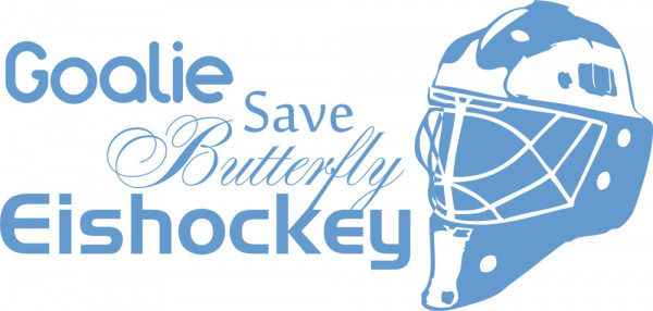 Wandtattoo Sport Eishockeymaske mit Schriftzügen