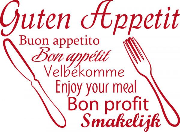 Wandtattoo für Küche Guten Appetit Sprachen
