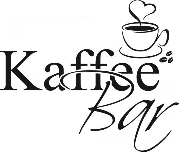 Wandtattoo Schriftzug Kaffeebar mit dekorativer Kaffeetasse