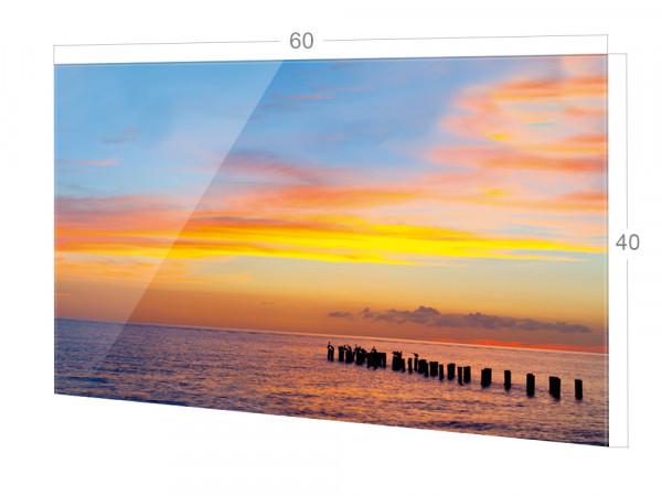 Spritzschutz Küche Glas Sonnenuntergang Meer Nordsee