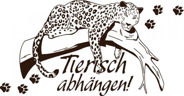 Wandtattoo Tiere Sprüche für Wohnzimmer Flur Afrika Deko Tierisch Leopard
