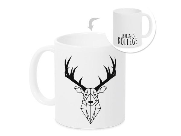 Kaffeebecher Lieblingskollege mit Hirsch - Geschenkidee Weihnachten