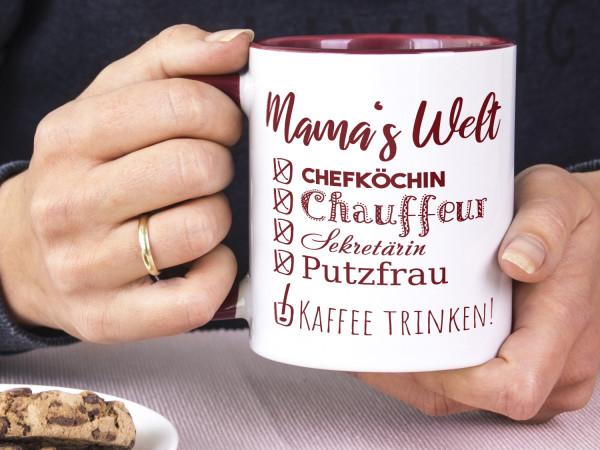 Tasse Mamas Welt, lustiges Motiv - zum Muttertag