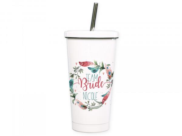 Cocktailbecher To go Becher, Team Bride