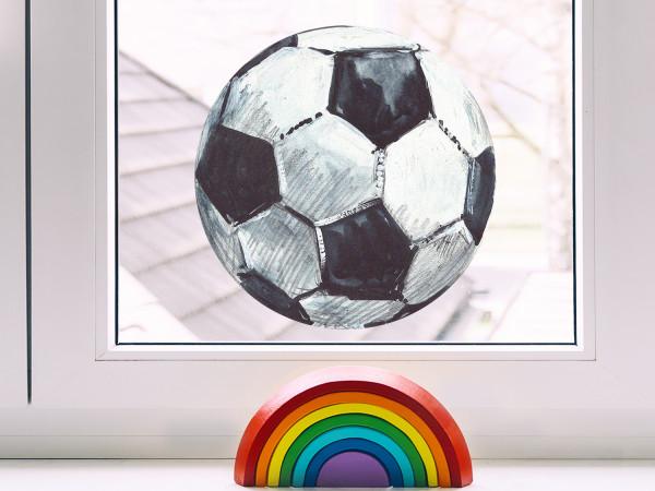 Fensterfolie Fußball für Kinderzimmer