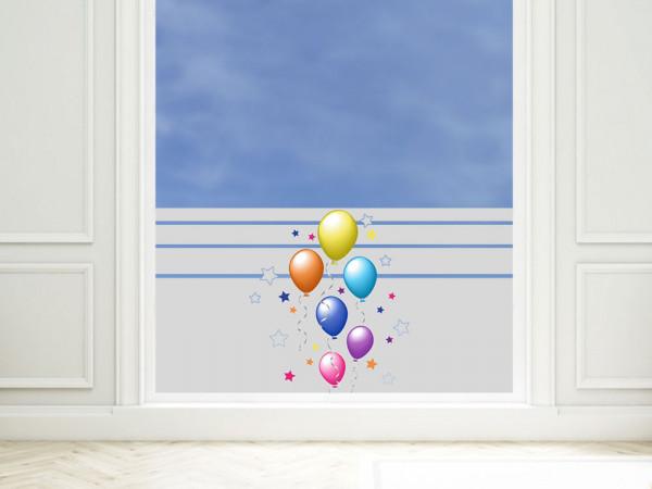 Sichtschutzfolie farbig Luftballons