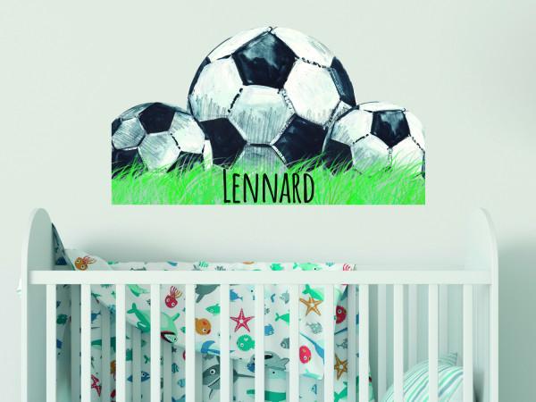 Wandtattoo Junge Fussball Name, Kinderzimmer - Babyzimmer, personalisiertes Geschenk