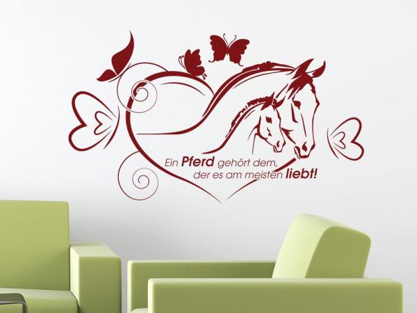 Wandtatoos Pferde wundervolles wandtattoo tiere für romantische mädchen