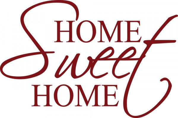Wandtattoo Schriftzug Home Sweet Home