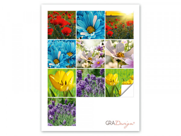 Fliesenaufkleber Set Blumen aus der Natur