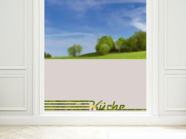 Sichtschutzfolie Küche Retro