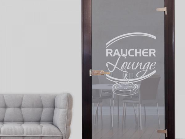 Glastür Aufkleber Fensterfolie für Raum Zimmer Raucher Lounge