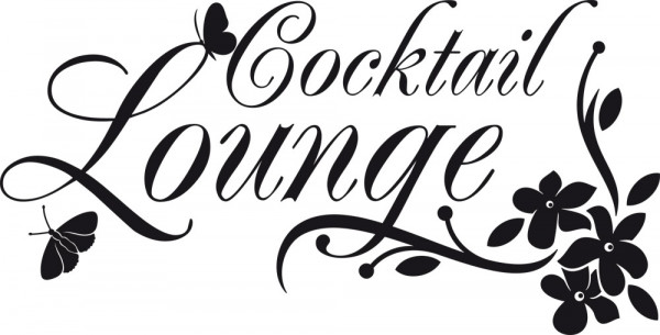 Wandtattoo Wortspiel Cocktail Lounge