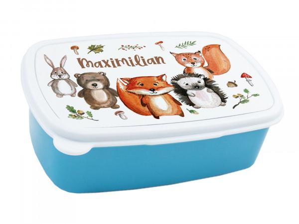Brotdose für Kinder mit Namen Waldtiere