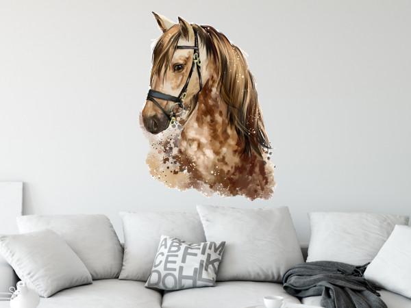 Wandtattoo Pferdekopf braun