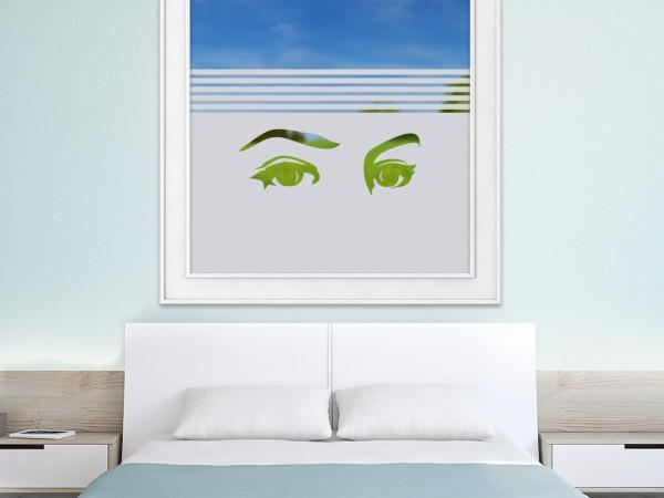 Sichtschutzfolie Blick Augen Dekor