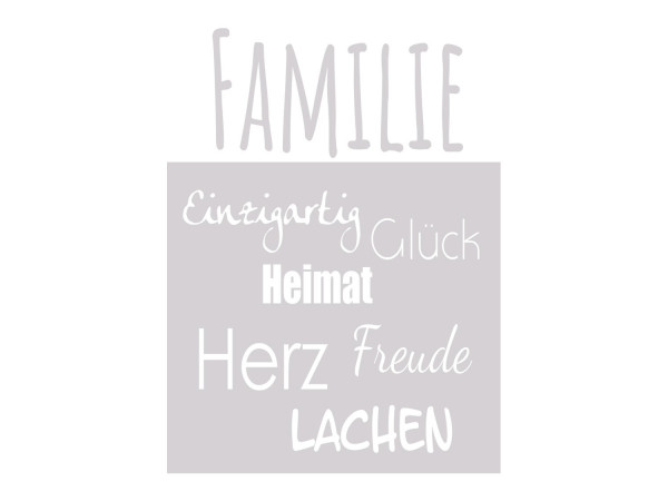 Sichtschutzfolie Familie Wörter