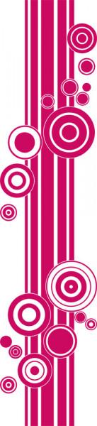 Wandtattoo Wandbanner Retro Style Kreise mit Linien