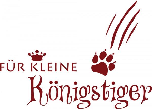 Wandtattoo Badezimmer Für kleine Königstiger mit Krone und Pfote