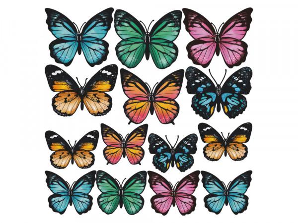 Wandtattoo Set für Wohnzimmer Falter Schmetterlinge