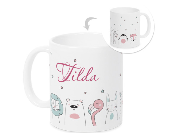 Tasse mit Namen für Mädchen personalisiert