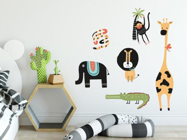 Wandtattoo Dschungeltiere für Kinderzimmer