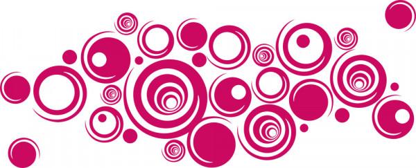 Wandtattoo 60er Jahre Wandverzierung Retro Design Kreise