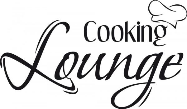 Wandtattoo für Küche Spruch Cooking Lounge Kochmütze