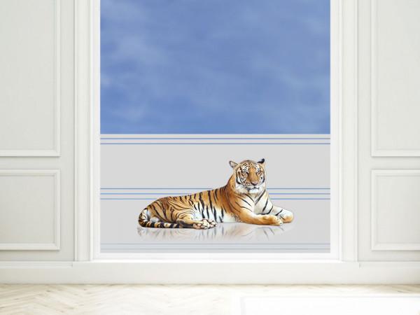 Sichtschutzfolie farbig Tiger liegt