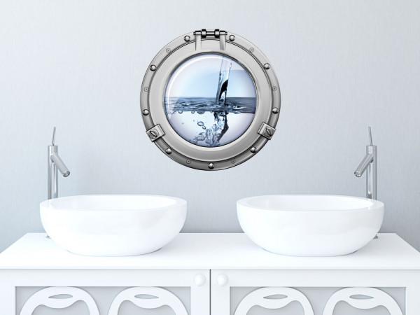 Wandsticker Badezimmer Bullauge Wasser Meer Ozean