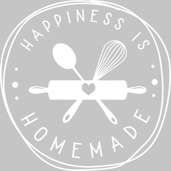 Wandtattoo Küche Happiness is homemade