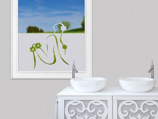 Sichtschutzfolie Frau Blumen Entspannen
