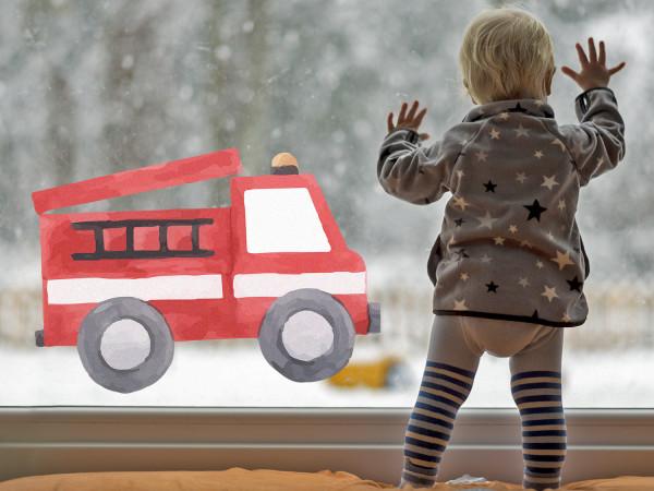 Fensterfolie Feuerwehrauto