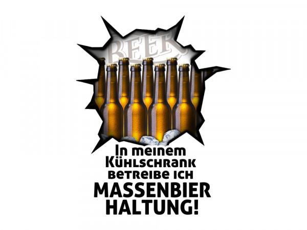 Wandsticker Sticker Kühlschrank für Küche Massenbierhaltung Bier Flaschen