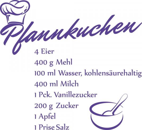 Wandtattoo für Küche Rezept für Pfannkuchen