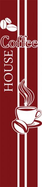 Wandtattoo Wandbanner Coffee House mit Tasse Küche