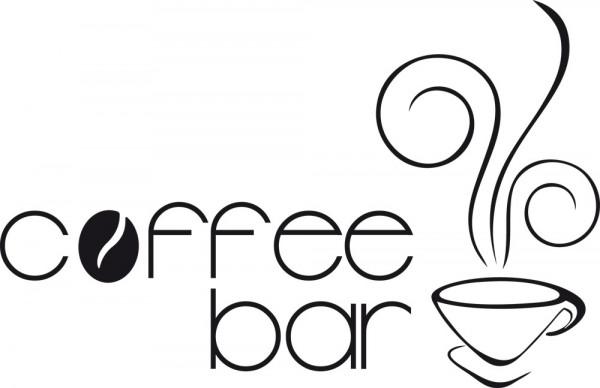 Wandtattoo Küche Sprüche Coffeebar mit Kaffee