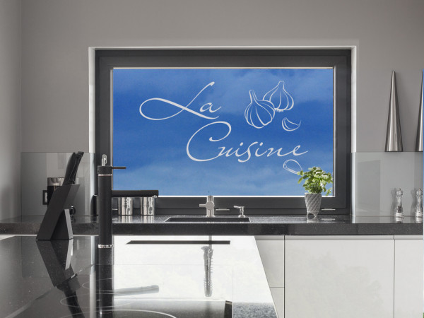 Fensterfolie Küche La Cuisine Knoblauch auf französisch