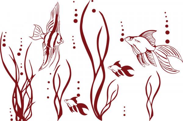Wandtattoo Badezimmer Fische im Ozean