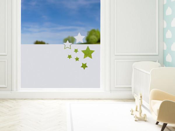 Sichtschutzfolie Sterne Muster