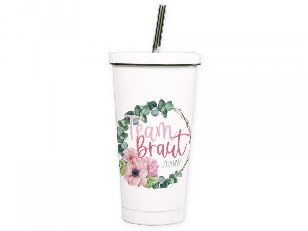 Cocktailbecher To go Becher, personalisiert Team Braut