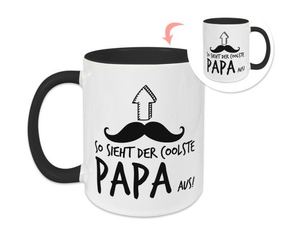 Tasse Vatertag, Geschenkidee So sieht der coolste Papa aus