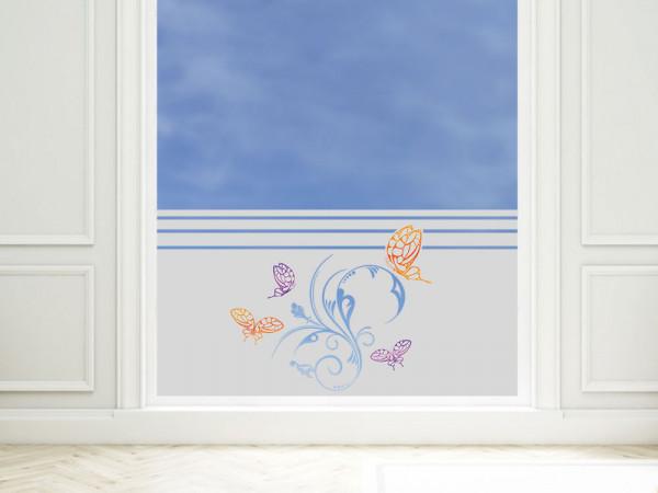 Sichtschutzfolie Schmetterlinge Ornament